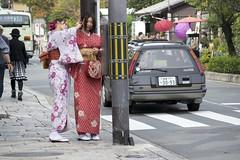 (quashlo) Tags: kyoto arashiyama  kimono  hairpin   kyotocity kanzashi     ukyoward