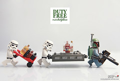 Cloud city duty free shop (storm TK431) Tags: starwars lego stormtrooper boba hansolo fett cloudcity