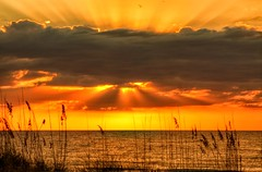 Gulf Sunset (mlibbe) Tags: sunset nature water clouds gulf florida indianrocksbeach droh dailyrayofhope mygearandme wwwmichaellibbephotographycom dailyrayofhope2012