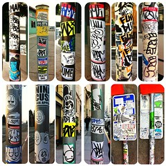 crushed (SF_SCUM) Tags: sanfrancisco above pez death graffiti oakland us sticker pov stickers dfw nina stm broke rodi ame comp niteowl splat pezo brow brows dume cuss lysergic euroe rysm drinkmorebeer giftgiver fukduk