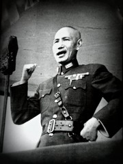 Chiang Kai Shek (Keith Mac Uidhir  (Thanks for 2.5m views)) Tags: china park old portrait pose asian island hall photo memorial uniform asia asien military chinese bald picture taiwan mausoleum photograph kai microphone leader taipei