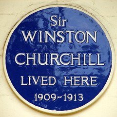 Photo of Winston Churchill blue plaque