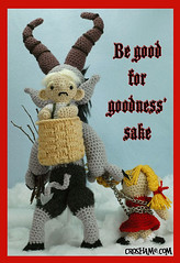 Be good for goodness' sake! (Croshame) Tags: christmas winter black crochet peter krampus schmutzli croshame