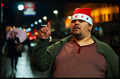 Christmastime, Argyle Street (Charles Hamilton Photography) Tags: christmas portrait night bokeh glasgow streetphotography streetportrait argylestreet glasgowcentral glasgowstreetscene nikond90