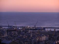 Genova & Corsica (simo2582) Tags: old city trip travel italien light sunset red sea urban italy pano