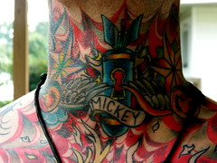Throat Tattoo (AnniePlayground1) Tags: color tattoo neck bodyart
