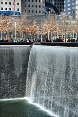 The National September 11 Memorial / New York (Images George Rex) Tags: sculpture usa ny newyork architecture memorial tears unitedstatesofamerica worldtradecenter negativespace waterfalls twintowers publicart remembrance groundzero memorials 911memorial abse