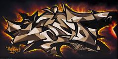 Uset (Youset) Tags: graffiti australia uset ironlak youset