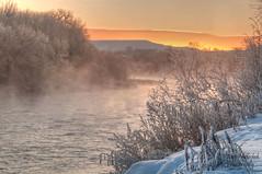 Fire and Ice (Amy Hudechek Photography) Tags: mist snow ice sunrise fire colorado steam coloradoriver wow1 wow2 wow3 wow4 wow5 mygearandme mygearandmepremium topphotospots tpslandscape