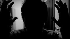 My body is a cage. (Roberto Chierichini) Tags: light shadow bw white man black window glass dark blackwhite holga hands hand head no ombra mani finestra uomo e saturation mano behind bianco nero vetro scuro testa penombra
