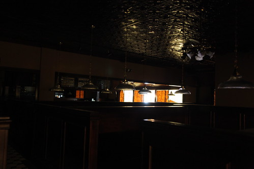 Nearly pitch black Ruby Tuesday seating