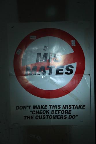 No Mis Mates sign in World Foot Locker