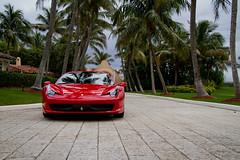 Ferrari at Mar-A-Lago (raelala) Tags: car automobile florida ferrari palmtrees palmtree maralago palmbeach sportscar morgenstern lakeworth redferrari italiansportscar redsportscar canoneos7d canon7d