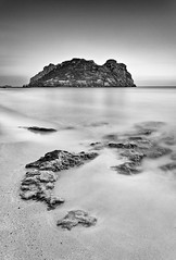 (Antonio Carrillo (Ancalop)) Tags: sunset sea bw espaa white black blanco beach water del canon island atardecer mar spain agua rocks europa europe long exposure y mark negro playa bn murcia filter le ii 09 l 5d usm lopez antonio isla 1740mm f4 carrillo exposicion graduated larga hoya aguilas nd400 fraile nd8 ancalop
