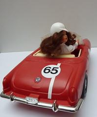 Sindy JULIA and her MG (Zululu2) Tags: cars vintage custom sindy