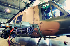 Business End (Fear_Through_The_Eyes) Tags: museum army flying war gun aviation australia helicopter queensland oakey gatling