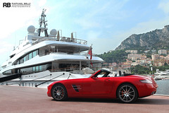 SLS AMG Roadster (Raphal Belly) Tags: pictures red paris cars car private de french rouge photography eos mercedes hotel photo shoot riviera photographie photoshoot casino montecarlo monaco 63 mc belly exotic 7d hermitage raphael rosso fontvieille luxury rb rocher v8 fairmont spotting sls amg supercars roadster cabriolet raphal sance principality 2011 principaut egarage