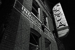 Club Soda (rsteup) Tags: blackandwhite monochrome nightimages indiana afterdark fortwaynein fwfg canong12 canonpowershotg12