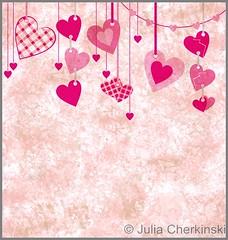 different pink hanging hearts on the grunge light paper background (Julia Cherkinski) Tags: pink wedding red white holiday abstract cute texture love broken illustration vintage festive poster demo happy design honeymoon day pattern friendship heart graphic image symbol shaped background grunge border decoration style valentine romance clip celebration event invitation card gift dating passion present valentines hanging romantic curl ornate curve shape decor greeting hang raster shutterstock flowersheart