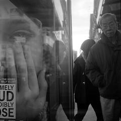 (Barry Yanowitz) Tags: nyc newyorkcity blackandwhite bw ny newyork reflection 6x6 film mediumformat reflections blackwhite chinatown kodak manhattan trix 120film d76 scanned filmcamera nycity selfdeveloped kodaktrix400 rolleicordv selfdeveloping d76developer nprfilm