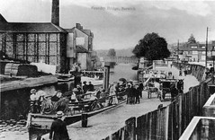 Foundry Bridge, Norwich, Norfolk (mira66) Tags: bridge bw postcard norfolk scan norwich oldphotograph foundrybridge