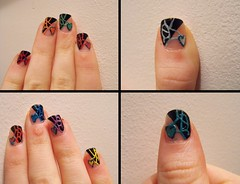Heart Nails (TheWorldIsLove) Tags: nails nailpolish bodyart nailart heartdesign naildesigns heartnails cosmeticapplication