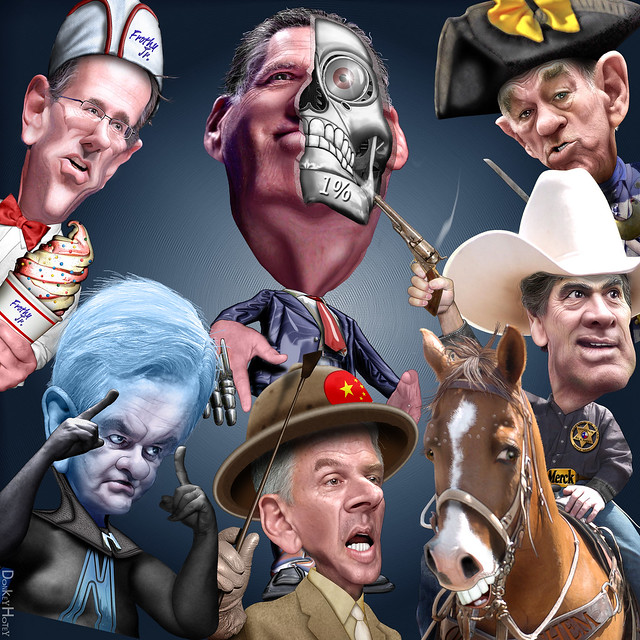 New Hampshire Debate Characters - Caricatures