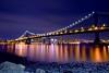 Take the L train (Fabio Sabatini) Tags: park nyc longexposure bridge newyork brooklyn downtown unitedstates manhattan manhattanbridge fulton brooklynbridgepark 165seconds