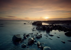 The Rocky Shoreline (PeterYoung1.) Tags: longexposure sunset seascape scotland colours scenic