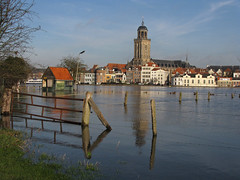 Deventer and high water level (Wilma1962*) Tags: reflection tower fence river flood toren deventer ijssel hek cityview reflectie rivier stadsgezicht hoogwater lebunuskerk mygearandme mygearandmepremium mygearandmebronze mygearandmesilver mygearandmegold mygearandmeplatinum mygearandmediamond