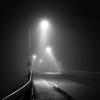 midnight encounters (StephenCairns) Tags: road bridge blackandwhite bw black texture japan fog night fence lights smooth rail sidewalk 日本 handrail 夜景 道路 岐阜 gifu 橋 歩道 夜 motosu 白黒 霧 岐阜県 30mmsigmaf14 canon50d stephencairns 50dcanon 本巣市