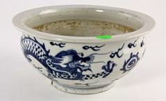 15. Antique Chinese Dragon Bowl