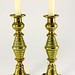 117. 19th Century Ring Brass Candlesticks