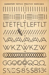 speedball textbook p6 (pilllpat (agence eureka)) Tags: typography 1957 lettering script lettres typographie