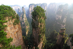 Zhangjiajie - Home of Avatar (b80399) Tags: china park vacation cliff mountain holiday mountains heritage rock sandstone rocks avatar cliffs national destination quartz hunan zhangjiajie wuling