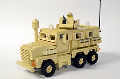 JERRV MRAP Cougar 6x6 I (Josh Bernstein) Tags: afghanistan 6x6 modern soldier war force lego military iraq eod armor minifig protection cougar machinegun ied tactical mrap brickarms jerrv tinytactical