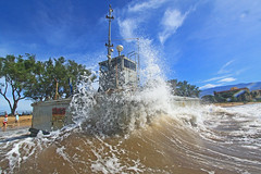 splash (bluewavechris) Tags: ocean sea nature water weather hawaii boat surf wave maui shipwreck wreck landingcraft kelia kihei lcm sugarbeach mikeboat