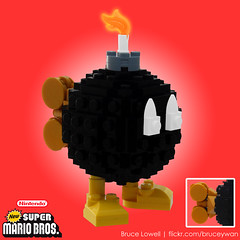 LEGO Bob-omb (bruceywan) Tags: game video lego brothers nintendo bob super mario sphere nes bomb bros gameboy photostream snes lowell moc wii omb lowellsphere bobombkoopa brucelowellcom lowellspherebl