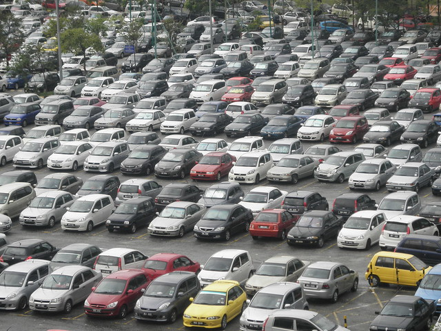 Large Carpark In Malaysia (With A Hit & Run)