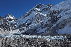 Everest base camp and icefall view (Florent Chevalier) Tags: voyage trip travel nepal mountain canon landscape geotagged asia asie himalaya paysage khumbu himalayas himalaia  summits  himalaja sommets   solokhumbu    himalaje    himalja    himalaji himlaj