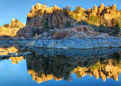 Reflections of Watson Lake (Phoenix Rising Photography) Tags: november arizona lake water reflections nikon day unitedstates clear prescott watsonlake 2011