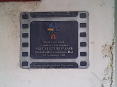 Photo of West's Picture Palace, Guildford film cell plaque