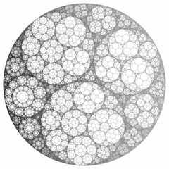 Apollonian Gasket (fdecomite) Tags: circle geometry packing math inversion gasket apollonian