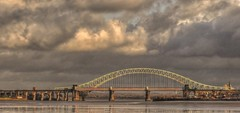 Runcorn Road And Rail Bridge (Keo6) Tags: road bridges rail and runcorn blinkagain