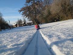 Snow (Gareth Hendley Photography) Tags: snow tree fun air meadow leisure sledge
