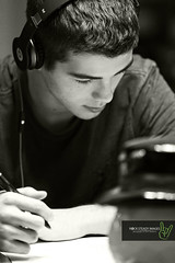 Evan Studies for Exams (Rock Steady Images) Tags: school ontario canada canon eos student study 7d handheld 200views 500views 50views beats onone topaz alliston 25views photoshopcs4 evanchambers canonef70200mmf28isiiusm rocksteadyimages