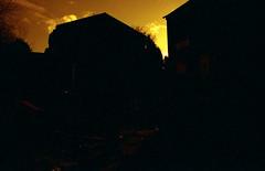Silhouette (Saturated Imagery) Tags: red sky silhouette 35mm fire iso200 epson praktica v500 filmslr vivitar28mmf25 beckhillestate prakticatl5b lomographyredscalexr devlopedthephotoshop