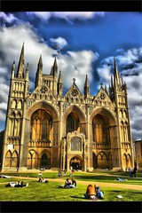 St Peter Cathedral (Vijay_ktyely) Tags: travel england clouds landscape cathedral popular peterborough hdr stpeter