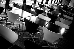 Cafe tables (Hkan Dahlstrm) Tags: bw art museum modern denmark restaurant louisiana tables seating humlebk uncropped 2012 frederiksborg f17 sek dmcgf1 lumixg20f17 15328012012121156