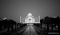 Taj Mahal in Monochrome